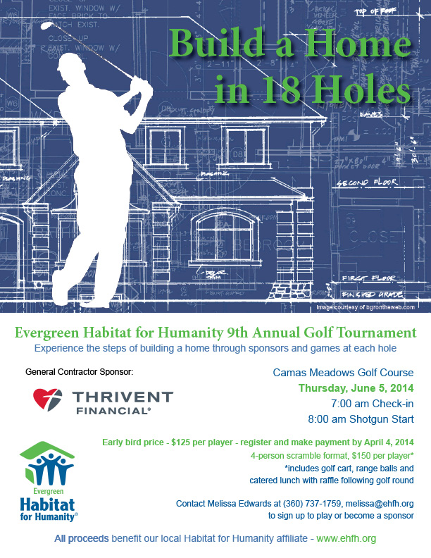 9th Annual Evergreen Habitat for Humanity Golf Tournament